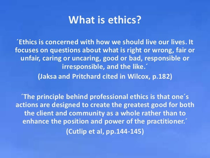 ethics branch of study dealing with 1 a branch of philosophy dealing with values pertaining to human conduct, considering the rightness and wrongness of actions and the goodness or badness of the motives and ends of such actions 2 systematic rules or principles governing right conduct  case studies in ethics.