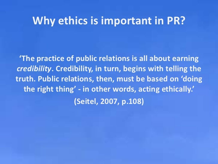 ethics and public relations The pr council believes that adhering to public relations code of ethics and principals is key to being a successful pr professional or agency.