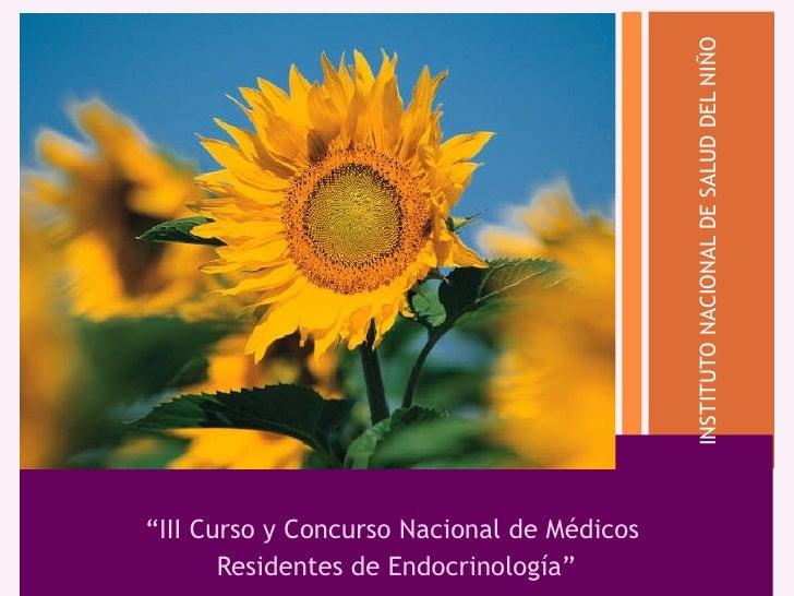 """INSTITUTO NACIONAL DE SALUD DEL NIÑO                     """"  """"III Curso y Concurso Nacional de Médicos        Residentes de..."""