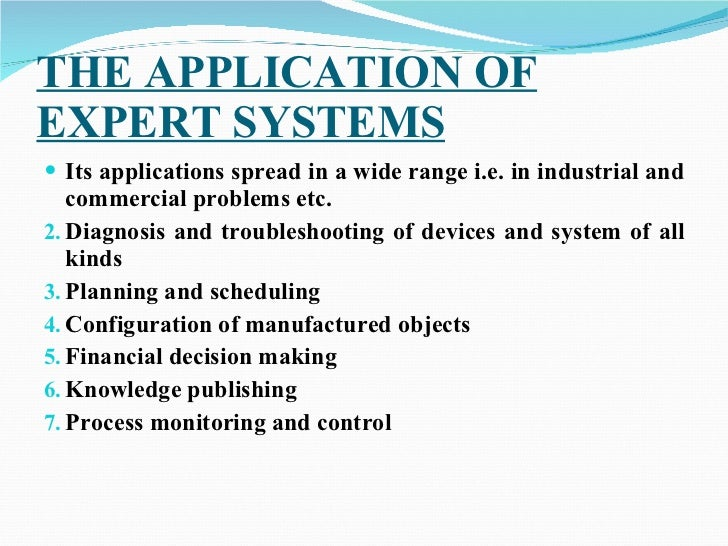 expert systems examples