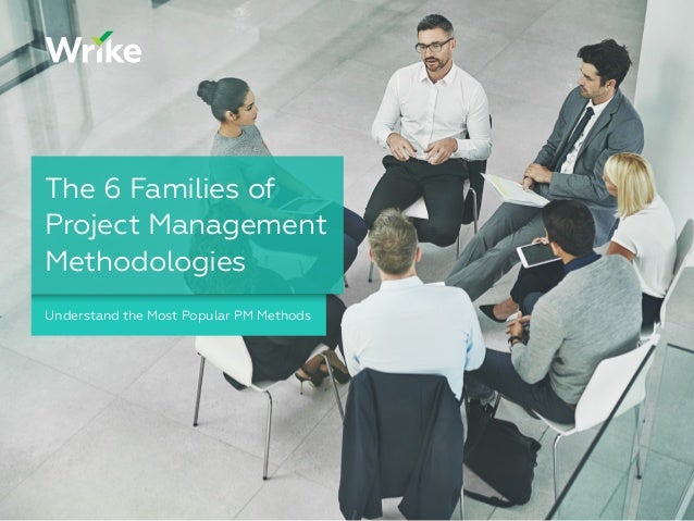 Understand the Most Popular PM Methods The 6 Families of Project Management Methodologies