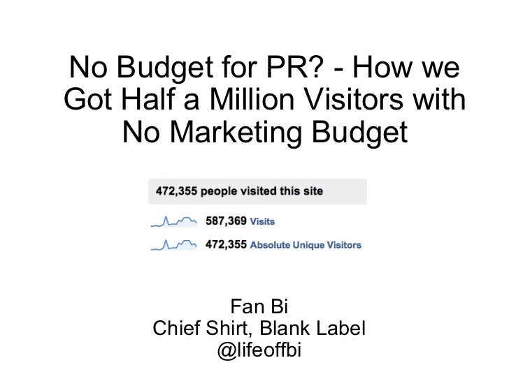 Fan Bi Chief Shirt, Blank Label @lifeoffbi No Budget for PR? - How we Got Half a Million Visitors with No Marketing Budget