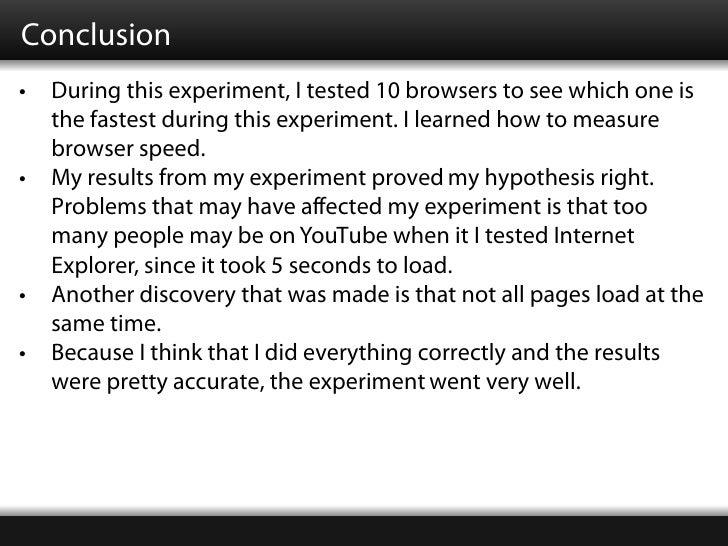 Science fair project conclusion