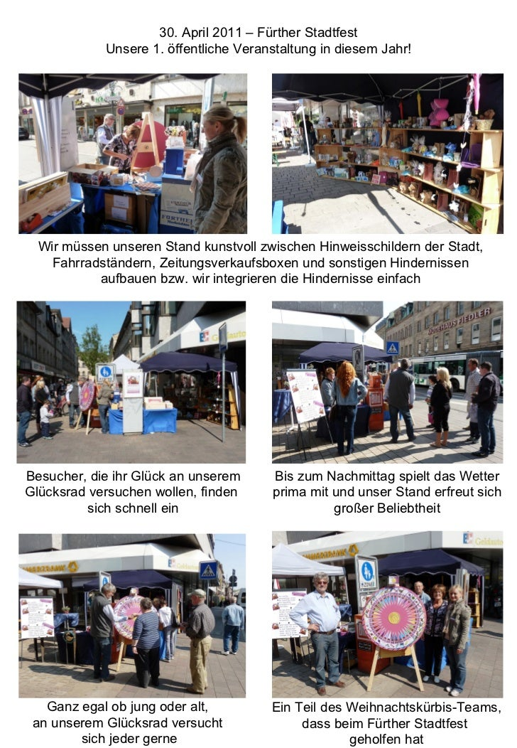 Wir müssen unseren Stand kunstvoll zwischen Hinweisschildern der Stadt, Fahrradständern, Zeitungsverkaufsboxen und sonstig...