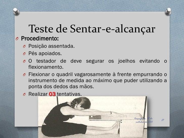 Teste de flexibilidade