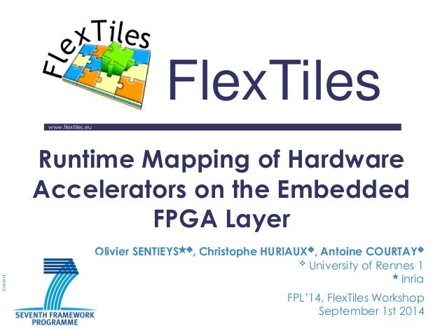 www.flextiles.eu  FlexTiles  Runtime Mapping of Hardware Accelerators on the Embedded FPGA Layer  FPL'14, FlexTiles Worksh...