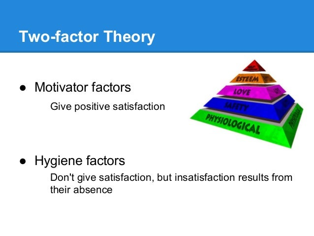 the two factor theory and the factors that motivate employees in the workplace He widely researched about the correlation between employees' attitude and workplace mr herzberg was finally able to come up with a theory known as the two factor the two factor theory was arrived at after these factors do not motivate employees nonetheless, when they are.
