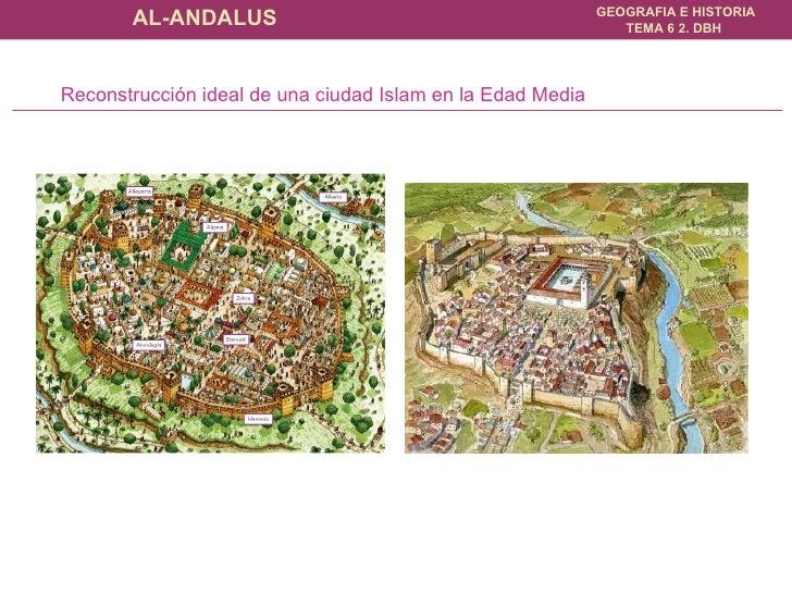 Reconstrucción ideal de una ciudad Islam en la Edad Media