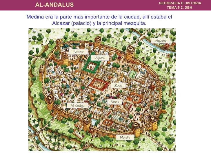 Medina era la parte mas importante de la ciudad, allí estaba el Alcazar (palacio) y la principal mezquita.