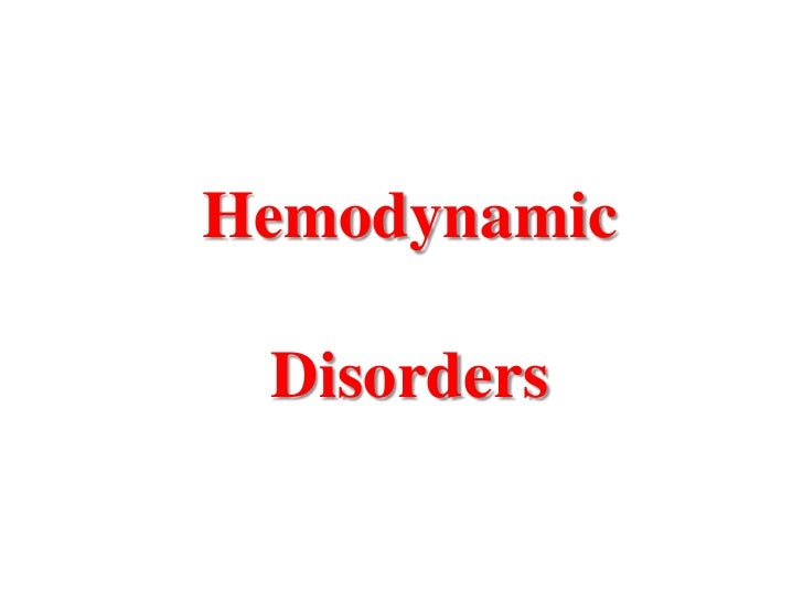 Hemodynamic Disorders
