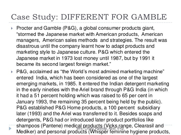 p g ldl case case study procter gamble company a Business analysis of procter and gamble  profit increases in the company in 1886 p&g opened its new ivorydale plant on the edge of cincinnati to keep up with .