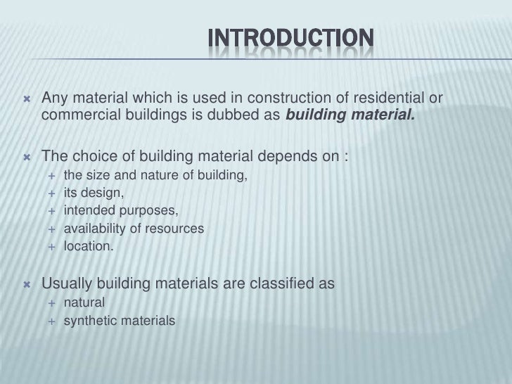 6  intro to building materials