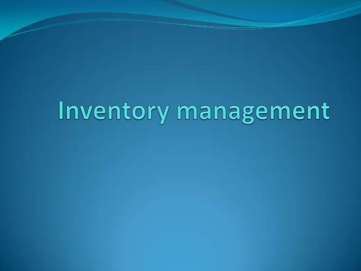 Introduction Inventory is defined as a usable resource which is physical and tangible.