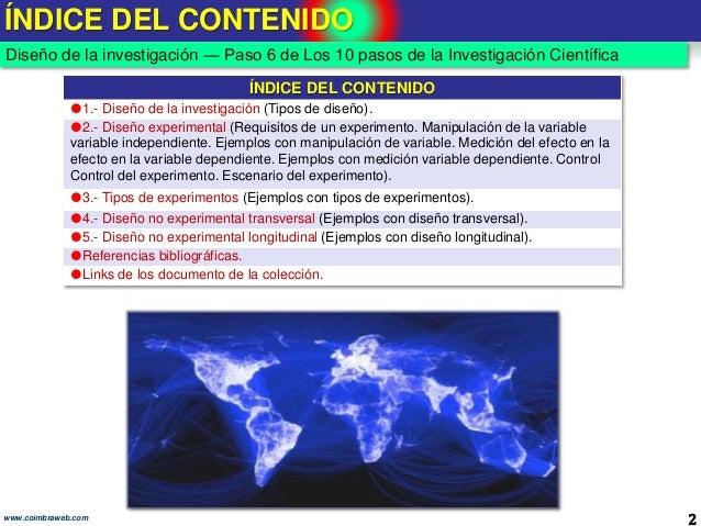 6.Diseño de la investigación. Los 10 pasos de la Investigacion Slide 2