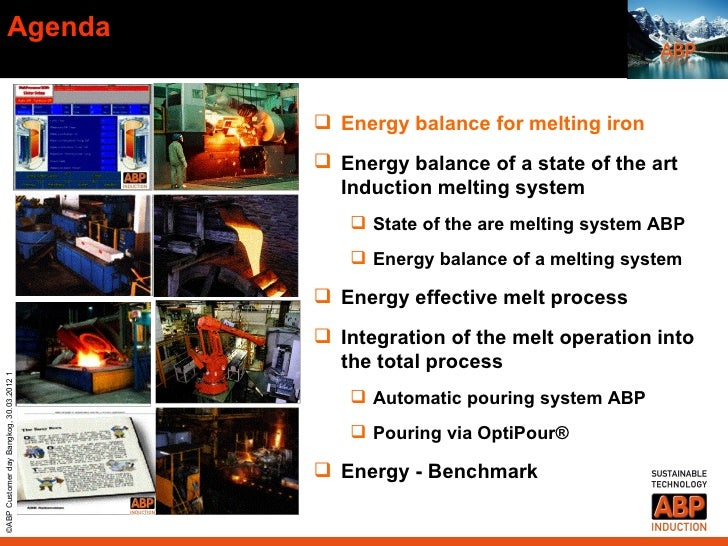 Agenda                                           Energy balance for melting iron                                         ...