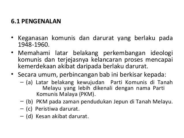 6 Komunis Dan Darurat Di Tanah Melayu