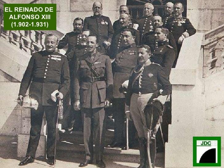 EL REINADO DE  ALFONSO XIII (1.902-1.931)