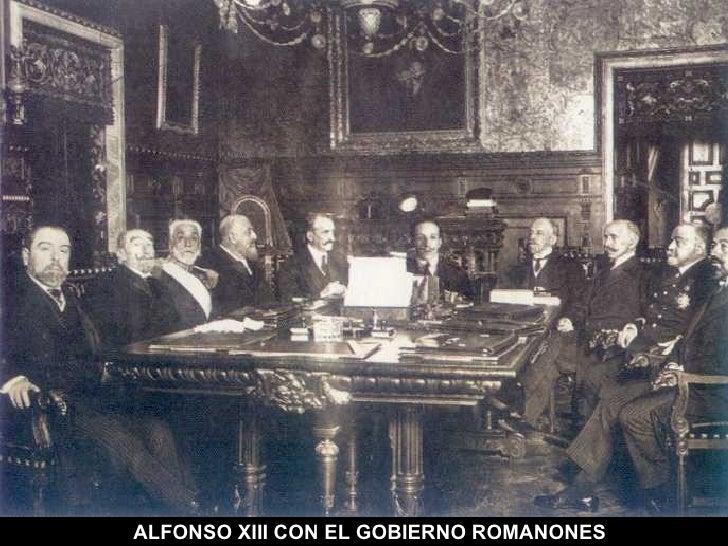 ALFONSO XIII CON EL GOBIERNO ROMANONES