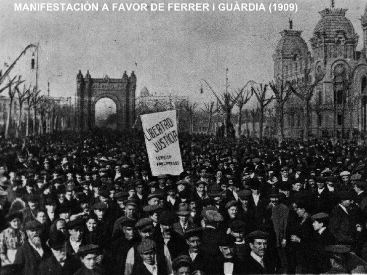 MANIFESTACIÓN A FAVOR DE FERRER i GUÀRDIA (1909)