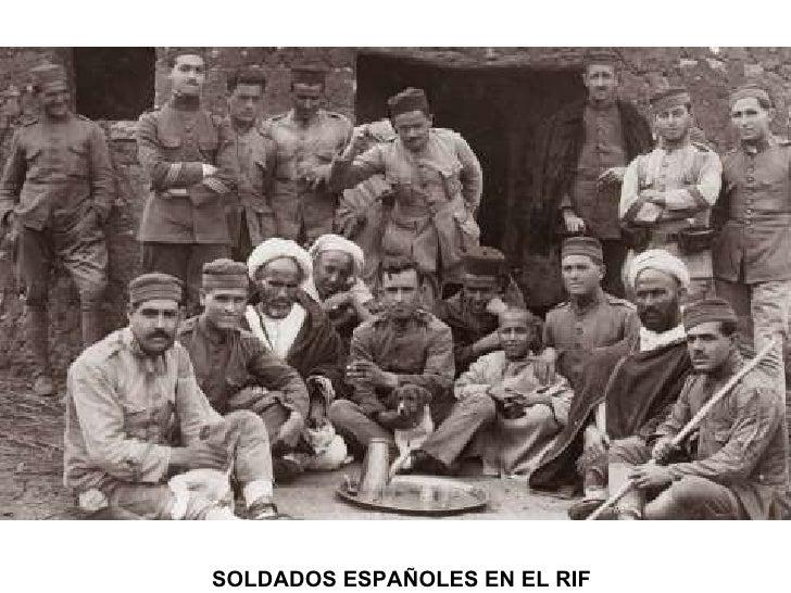 SOLDADOS ESPAÑOLES EN EL RIF