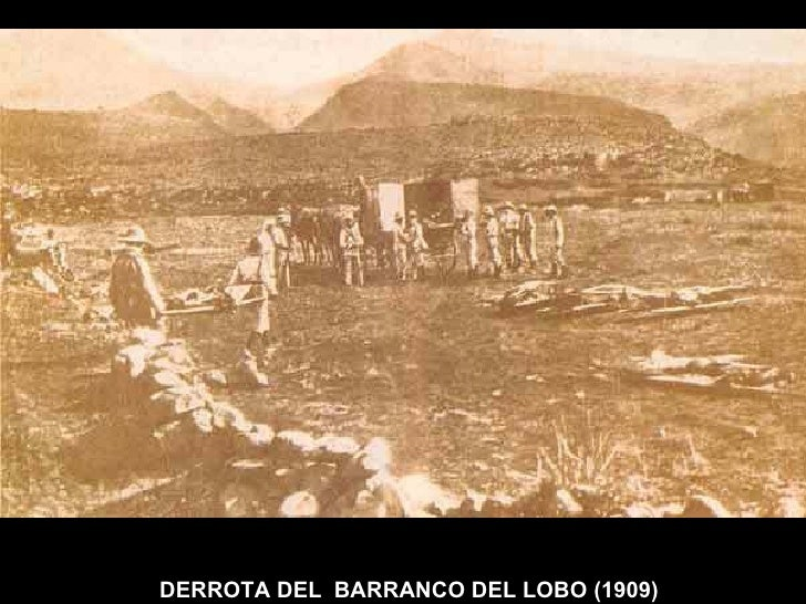 DERROTA DEL  BARRANCO DEL LOBO (1909)