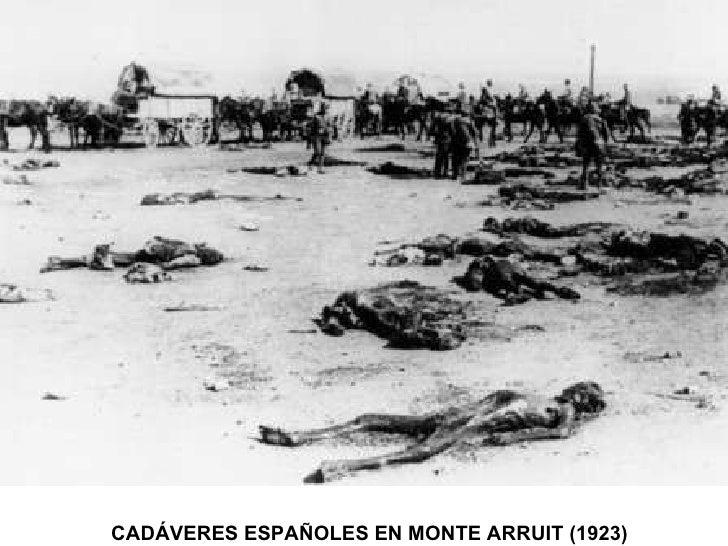 CADÁVERES ESPAÑOLES EN MONTE ARRUIT (1923)