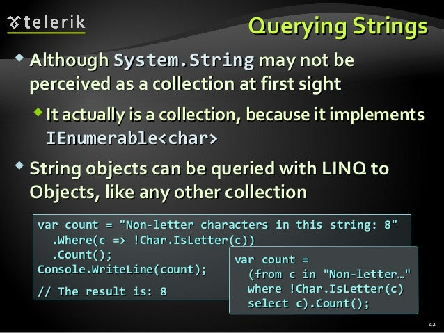 Language Integrated Query - LINQ