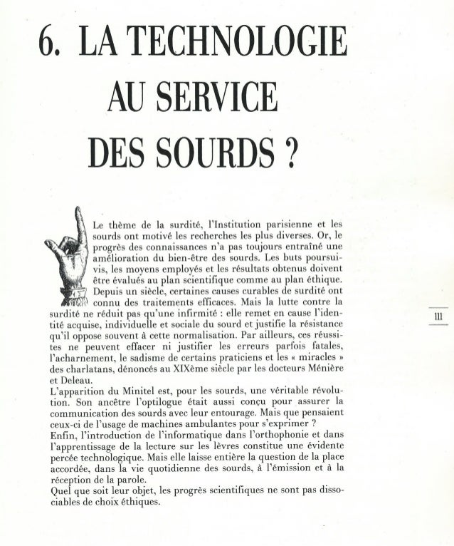 6 - la technologie au service des sourds ?
