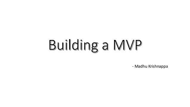 - Madhu Krishnappa
