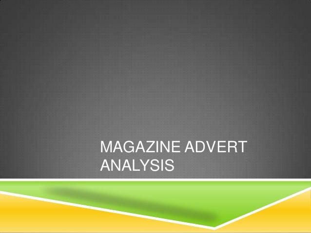 MAGAZINE ADVERTANALYSIS