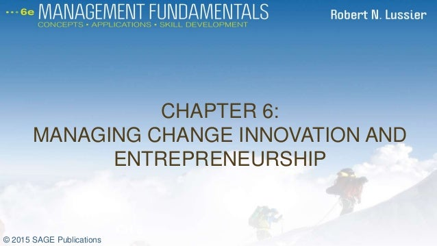 A Guide for Entrepreneurs Who Lead and Manage Change