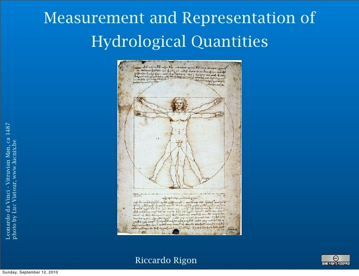 Measurement and Representation of                                                   Hydrological Quantities Leonardo da Vi...