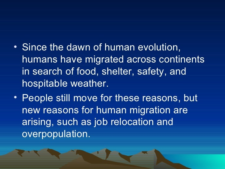 effects of migration and other evolutionary In other words, in evolutionary biology,  classifications of selection-migration structures and conditions for a  1970 effects of selection and drift on the.