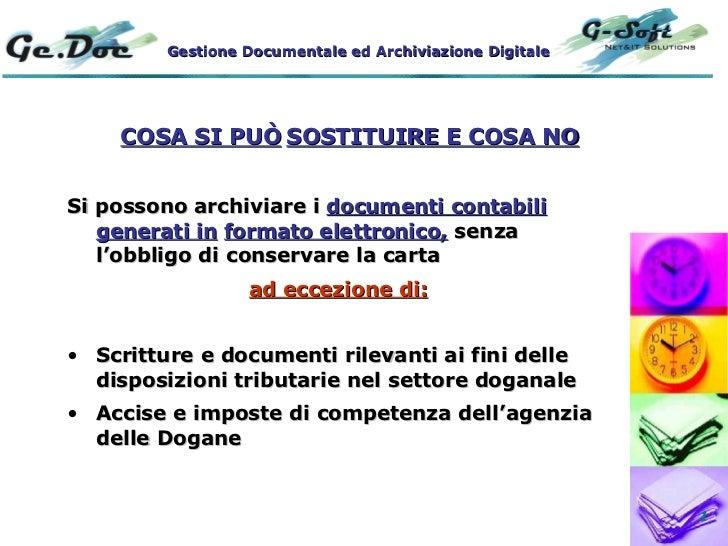 <ul><li>Si possono archiviare i  documenti contabili generati in   formato elettronico,  senza l'obbligo di conservare la ...