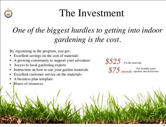 business plan template gardening