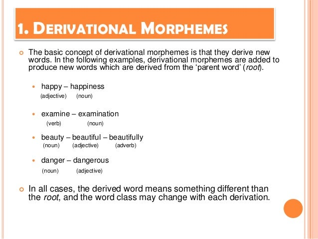 WORD-FORMATION (Word derivation) Lecture # 4 - ppt video online ...