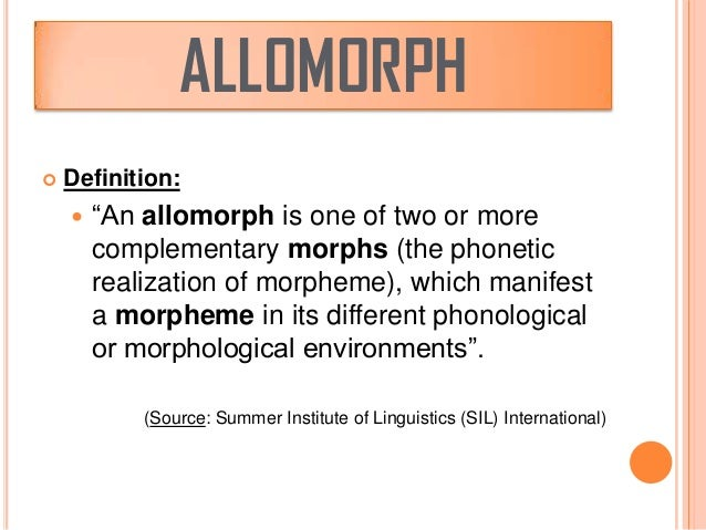 difference between morph and morpheme