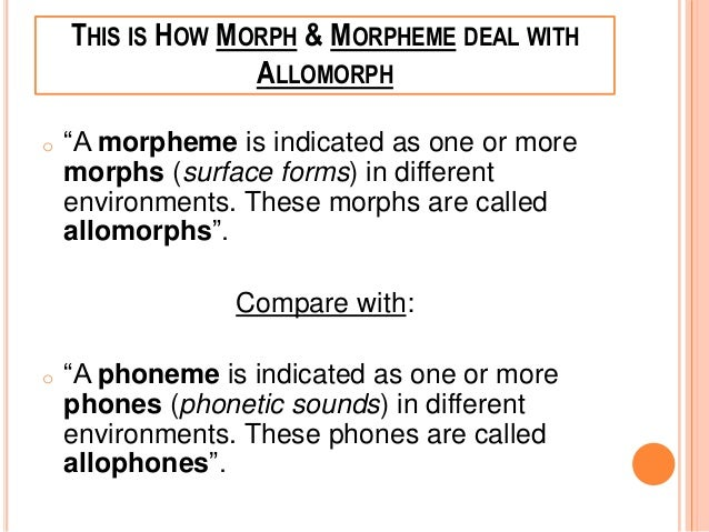 different types of morphemes Decomposingwords into their constituent morphemes: evidence from english and hebrew  in part because different theorists are searching for different types of.