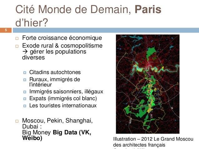 Cité Monde de Demain, Paris5    d'hier?       Forte croissance économique       Exode rural & cosmopolitisme         gé...