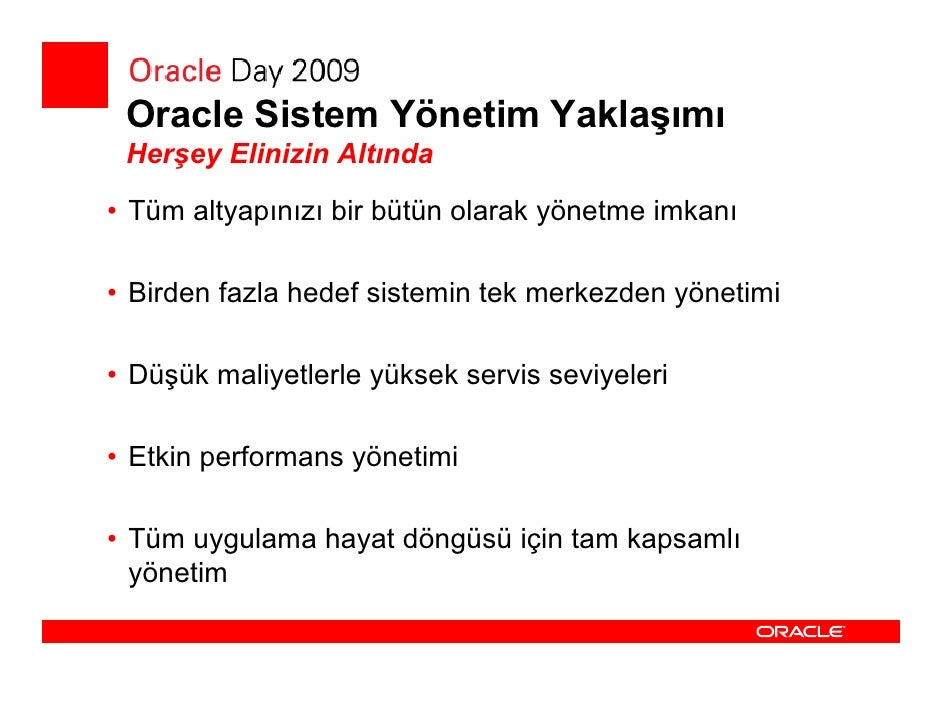 Grid Control vs. Database Control  • EM Grid Control            • EM Database Control    • Merkezi Yönetim Çözümü     • Ku...