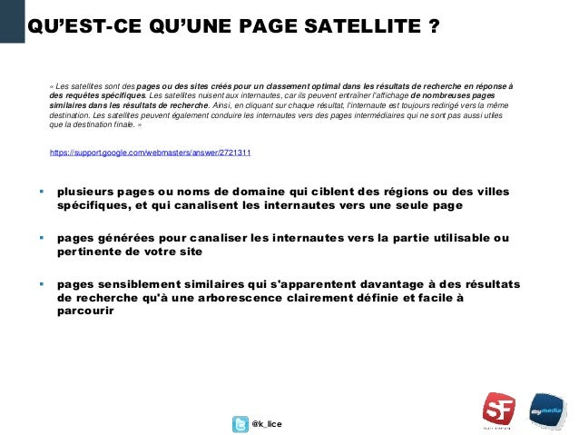 Seo Les Pages Satellites Dans Le Radar De Google