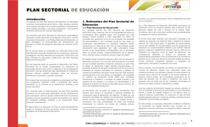 PLAN SECTORIAL DE EDUCACIÓNIntroducción                                                                                   ...