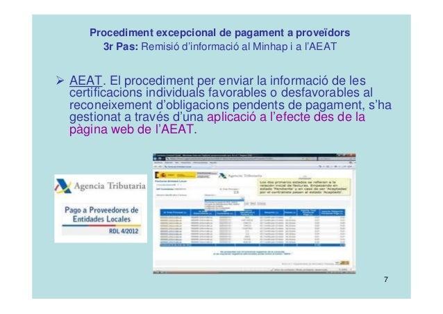 Procediment excepcional de pagament a prove dors ajuntament alzira - Aeat oficina virtual ...