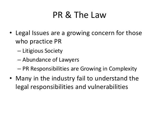 Public Relations Legal Considerations Slide 2
