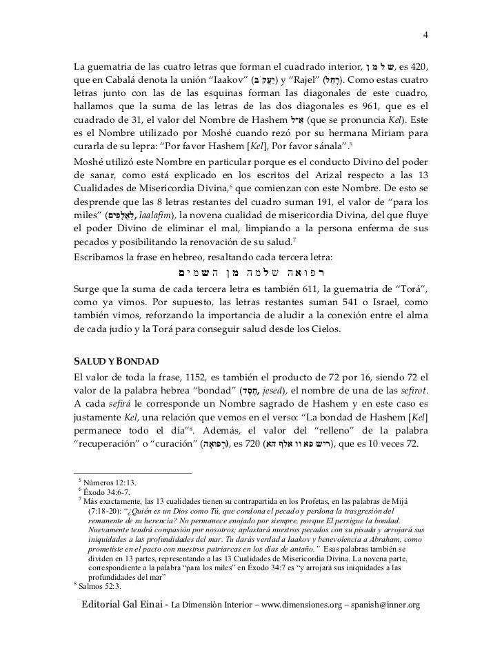 """4La guematria de las cuatro letras que forman el cuadrado interior,  ,ש ל מ ןes 420,que en Cabalá denota la unión """"Iaako..."""