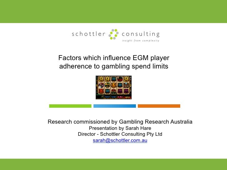 schottler             consulting                              insight from complexity   Factors which influence EGM player...