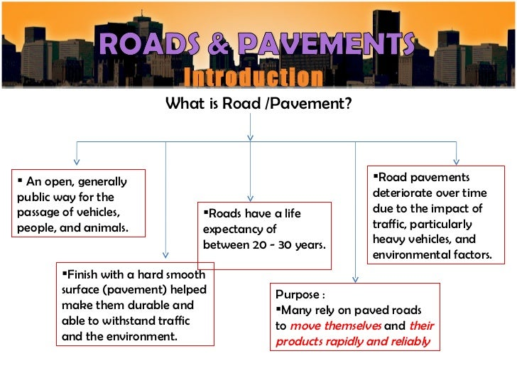 Introduction                          What is Road /Pavement? An open, generally                                         ...