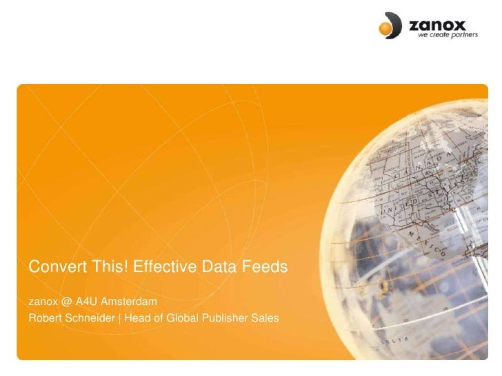 XML and Data Feeds - Standardisation and Implementation for Success (…