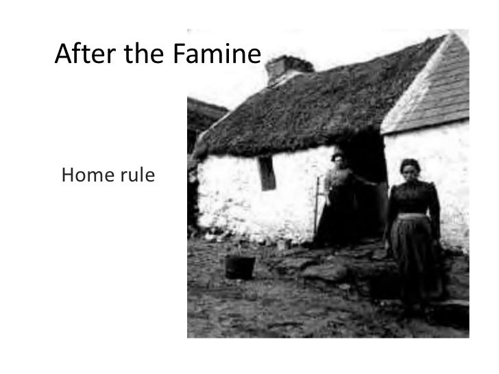 After the Famine<br />Home rule<br />