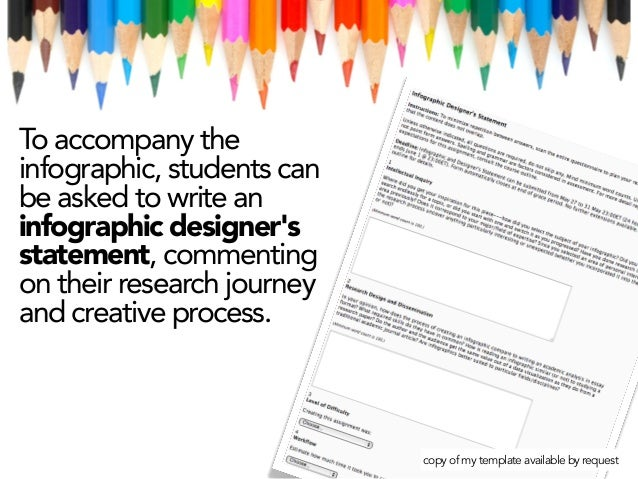 To accompany the infographic, students can be asked to write an infographic designer's statement, commenting on their rese...